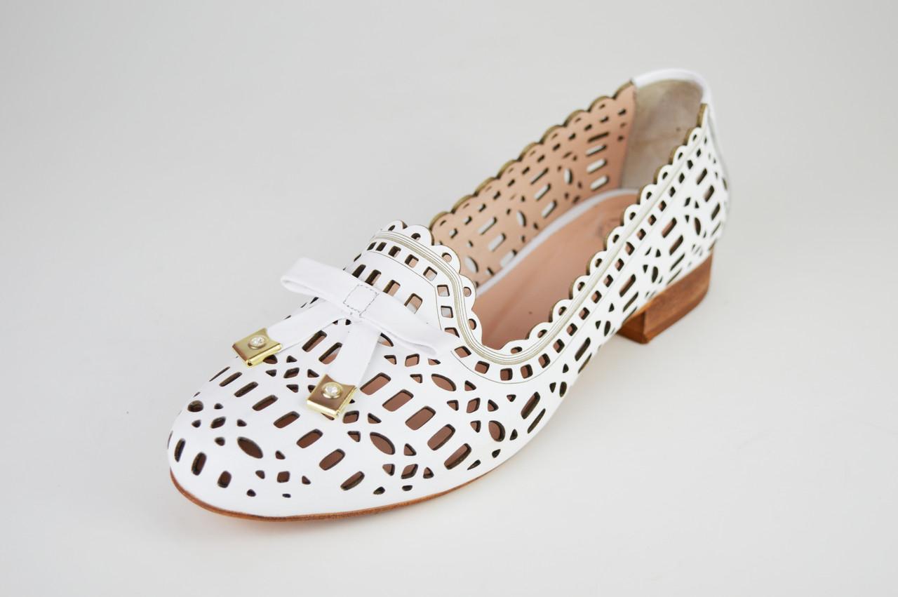 9a1837c52 Балетки перфорированные белые Aquamarin 505 - КРЕЩАТИК - интернет магазин  обуви в Александрии