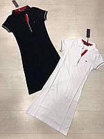 Оригинальное платье копия бренд ТОМИ ХАЛФИГЕР белый и синий
