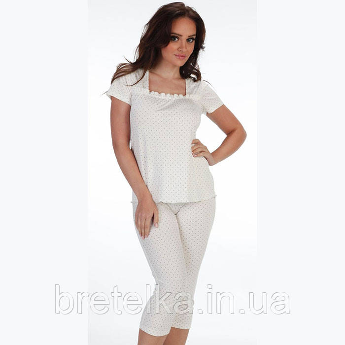 Пижама женская Delafense 919 молочный