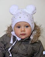Шапка Малышка бусинка размер 54 (демисезон двойная), фото 1
