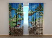 """Фотошторы """"Волшебный мир 2"""" 250 х 260 см фото штори с рисунком шторы в детскую"""
