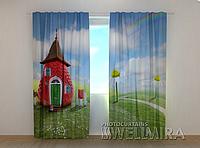 """Фотошторы """"Земляничка"""" 250 х 260 см фото штори с рисунком шторы в детскую"""