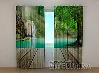 """Фотошторы """"Озеро у порога"""" 250 х 260 см фото шторы штори"""
