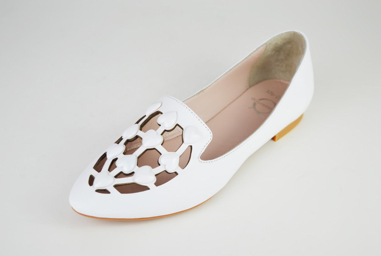 af727d3db Балетки перфорированные белые Aquamarin 176275 - КРЕЩАТИК - интернет магазин  обуви в Александрии