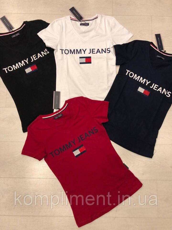 Трикотажна жіноча турецька футболка з написом FL 1018