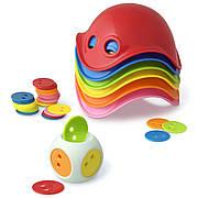 Игровой набор Moluk Билибо Мини 6 разноцветных мини Билиба кубик с цветными фишками (43015)
