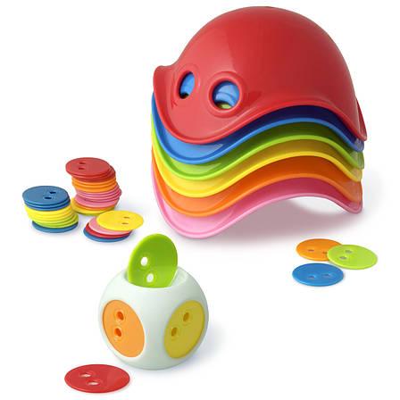 Игрушка Билибо Мини 4+ (6 разноцветных мини Билиба, 1 кубик с чипами 36 шт) MOLUK, фото 2