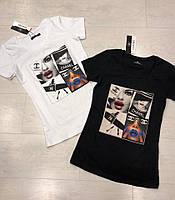 Трикотажна жіноча турецька футболка з малюнком FL 1022