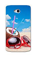 Чехол для LG L80 (Пляж)