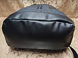 Рюкзак nike мессенджер с кожаным дном спортивный городской стильный ОПТ, фото 5