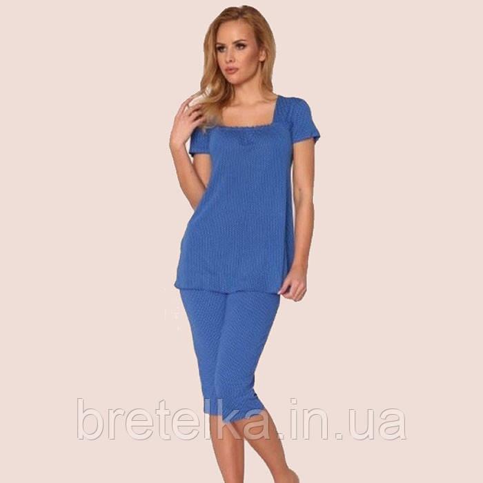 Пижама женская Delafense 919 синий