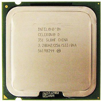 Процессор Intel Celeron D 351 3.20GHz/256/533 (SL8HF) s775, tray