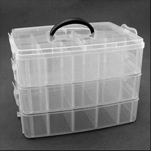 Контейнер лотки средний 42107 пластик 6-ячеек х 3-яруса 25х17х18см