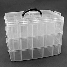 Контейнер лотки средний 52998 пластик 6-ячеек х 3-яруса 32х18х24см, фото 2