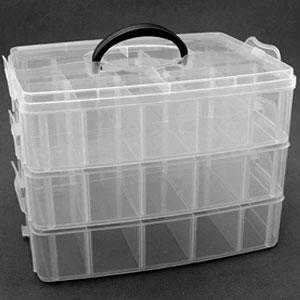 Контейнер лотки средний 52998 пластик 6-ячеек х 3-яруса 32х18х24см