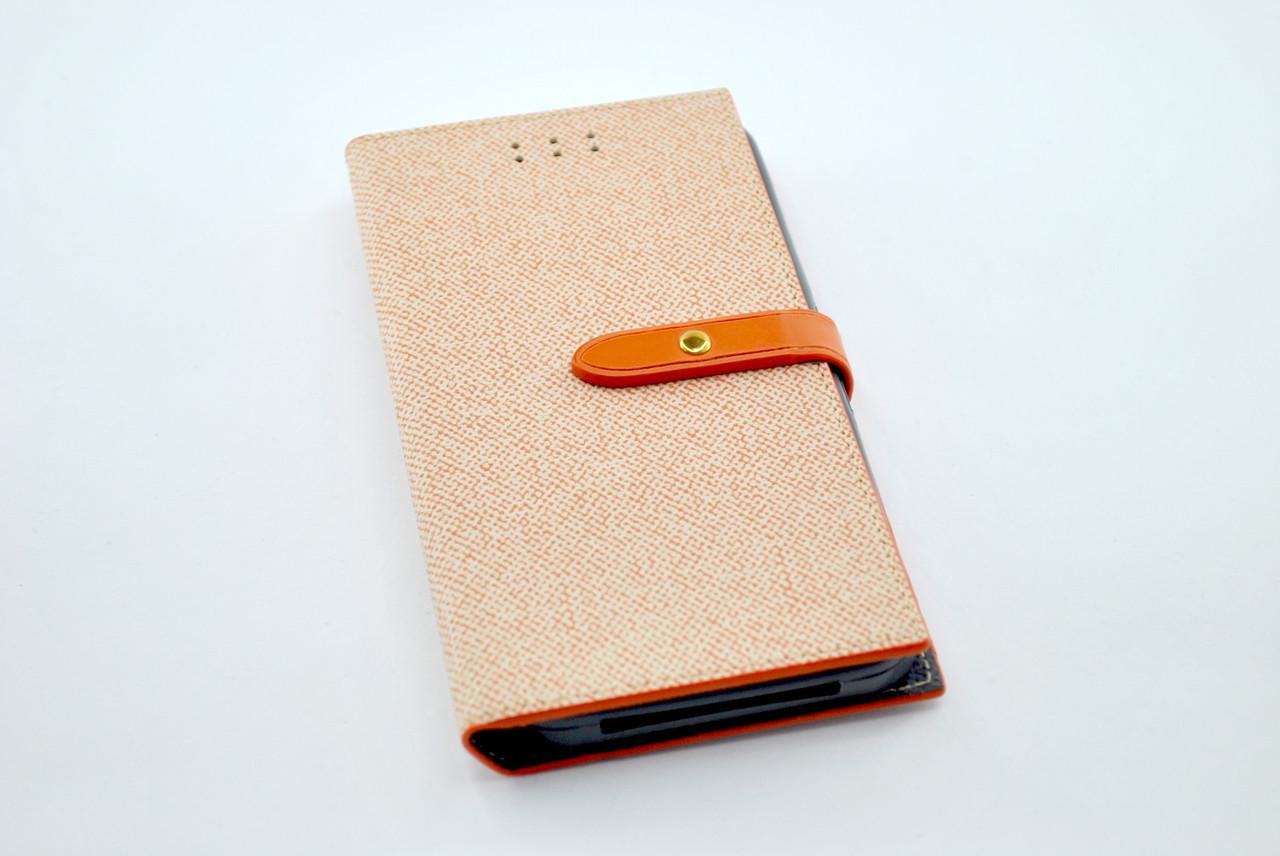 """Чехол-книжка 4you BELT 4,5""""- 4,8"""" orange универсальная ТОП Продаж! Новый цвет!!!"""