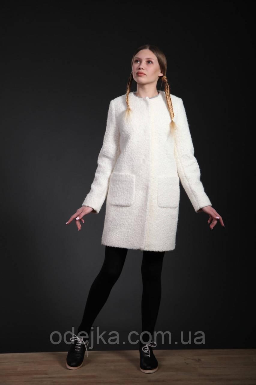 Пальто  женское  Татьяна Филатова модель 173 каракуль белый
