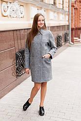 Пальто женское  Татьяна Филатова модель 172 серое