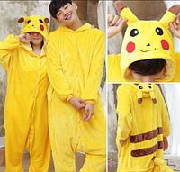 ✅ Детская пижама Кигуруми Покемон Пикачу 130 (на рост 128-138см)