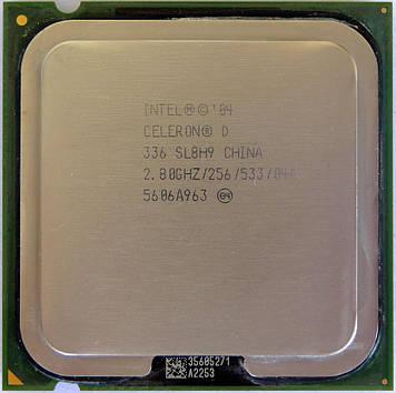 Процессор Intel Celeron D 336 2.80GHz/256/533 (SL8H9) s775, tray