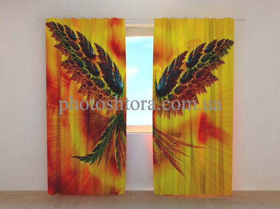 "Фотошторы ""Жар-птица"" 250 х 260 см природа фото штори шторы с рисунком, фото 2"