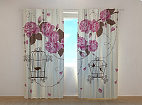 "Фотошторы ""Птички"" 250 х 260 см фото шторы штори"