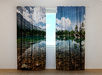 """Фотошторы """"Горное озеро"""" 250 х 260 см природа горы фото штори шторы с рисунком"""