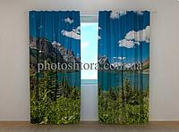 """Фотошторы """"Лето в горах"""" 250 х 260 см горы природа фото штори шторы с рисунком"""
