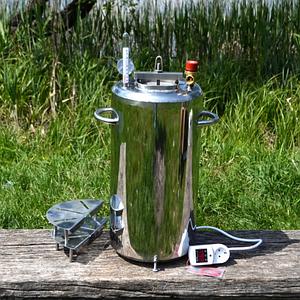 Автоклав электрический и огневой на 30 л (21 банка 0,5л). Нержавейка