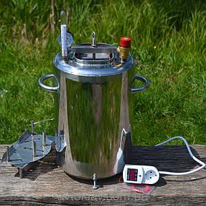 Автоклав электрический, огневой 20л (14 банок 0,5л). Нержавейка.