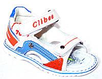 Детские кожаные босоножки для мальчика Clibee Польша размеры 21-26