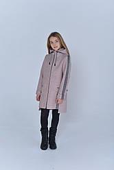 Пальто  детское  Татьяна Филатова  модель 223  пудра лампас серебро