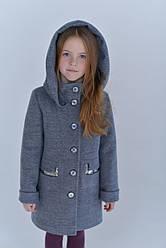 Пальто детское  Татьяна Филатова модель 196 голубое