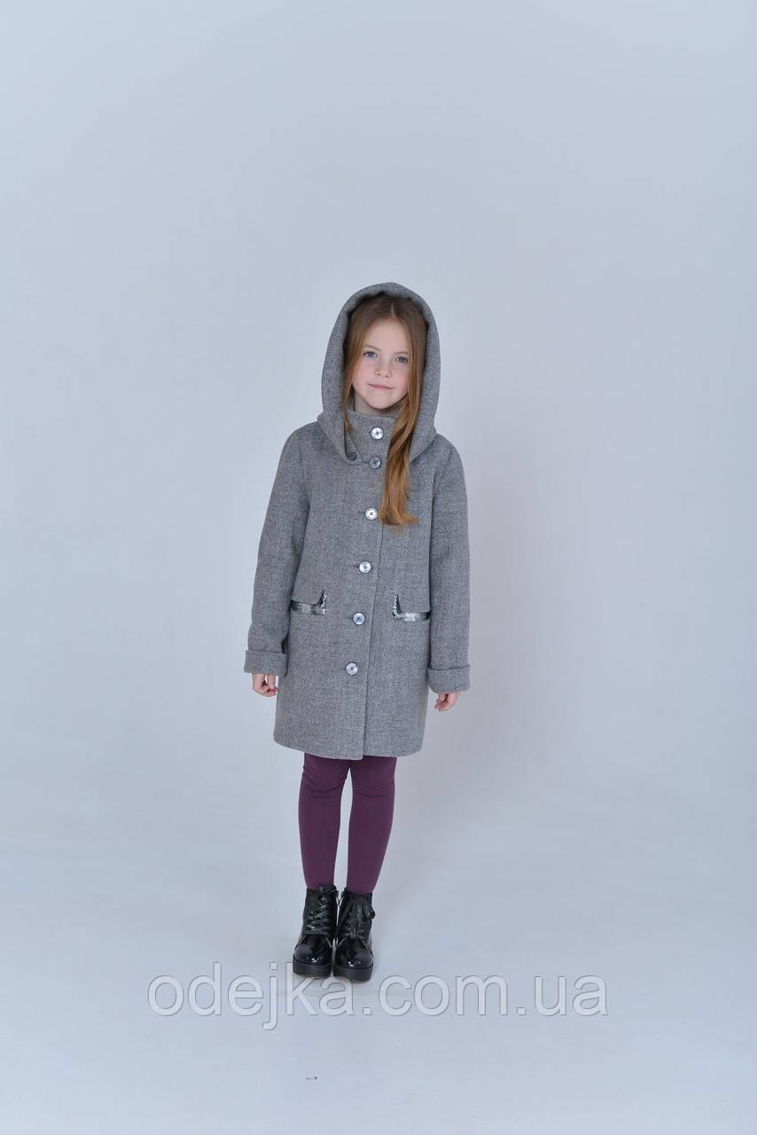 Пальто детское Татьяна Филатова модель 196 серое