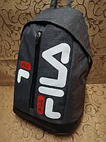 Рюкзак fila мессенджер с кожаным дном спортивный городской стильный ОПТ, фото 1