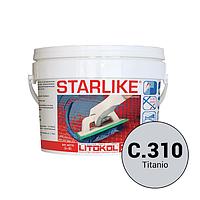 Litokol Starlike Classic Collection С.310 Титановый 2,5 кг эпоксидная фуга для укладки плитки и затирки швов