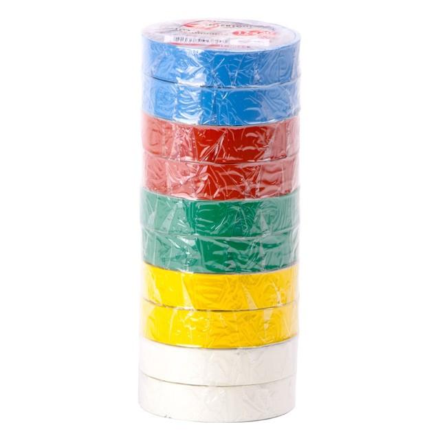 Лента изоляционная 15м цветная INTERTOOL IT-0019