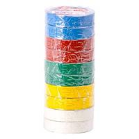 Лента изоляционная 20м цветная INTERTOOL IT-0024