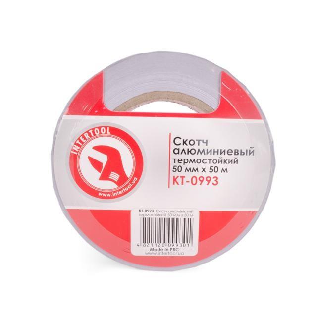 Скотч алюминиевый термостойкий 50 мм*50 м. INTERTOOL KT-0993