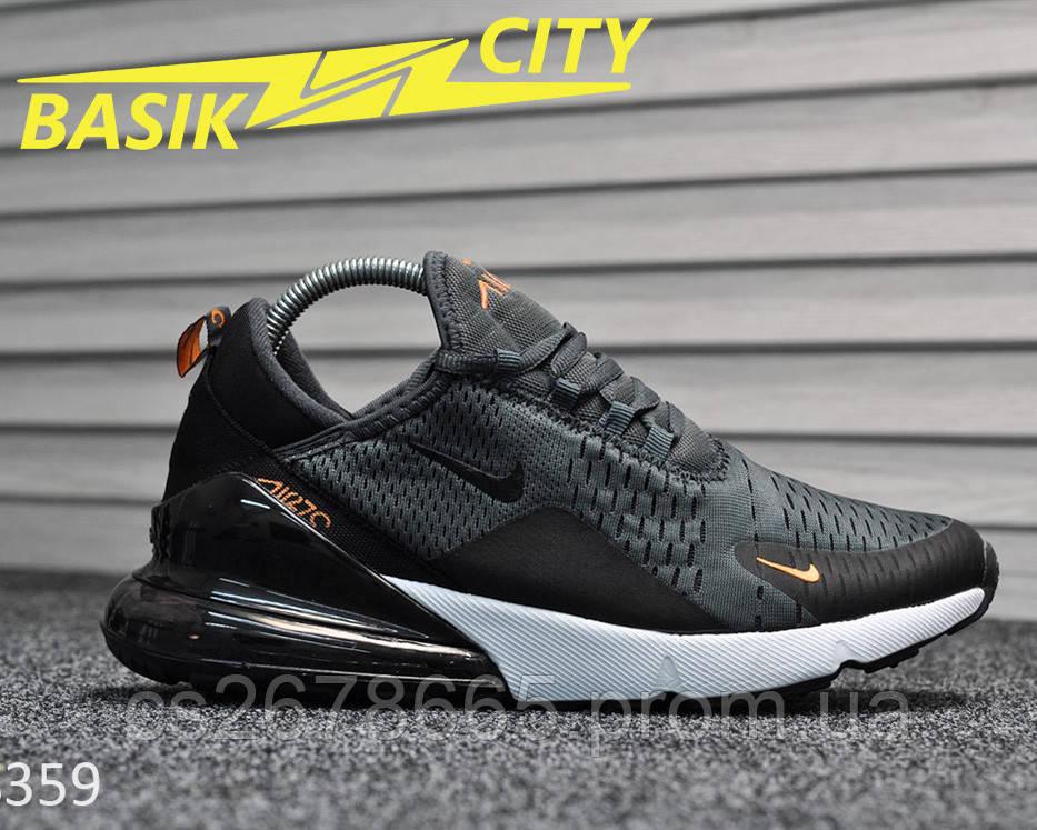 Мужские кроссовки Nike Air Max 270 Gray 44 размер - 28см
