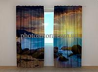 """Фотошторы """"Иллюзия"""" 250 х 260 см природа фото штори шторы с рисунком"""