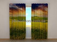 "Фотошторы ""Желтое поле"" 250 х 260 см фото шторы штори"