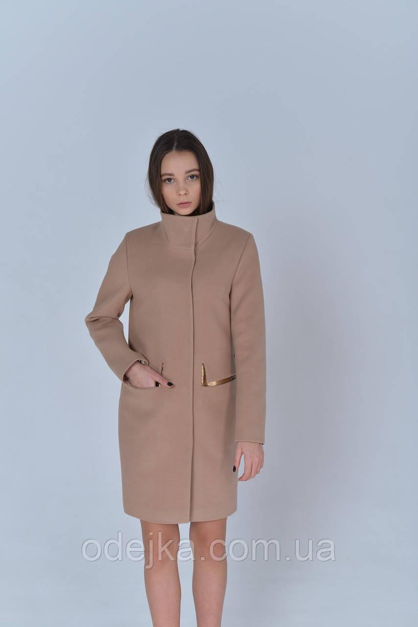 Пальто женское  Татьяна Филатова модель 191 бежевый