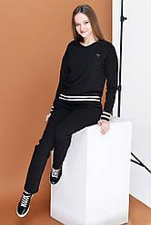Костюм брючный  Татьяна Филатова модель 198  черный с белой полосой