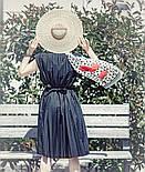 Огненный цветок 10051-0, павлопосадский шарф шелковый крепдешиновый с подрубкой, фото 3