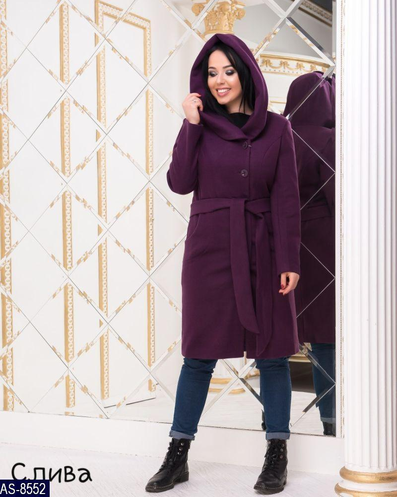 Стильне жіноче кашемірове пальто р. 50,52,54,56