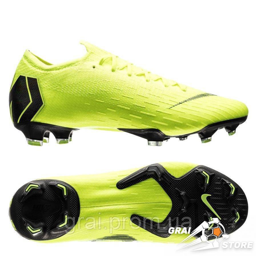 4b46fe66 Бутсы Nike Mercurial Vapor XII Elite FG Light Green/Black - Интернет  магазин Грай в