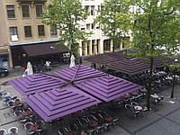 Зонт консольный четырехкупольный Квадро Рим (8х8м)