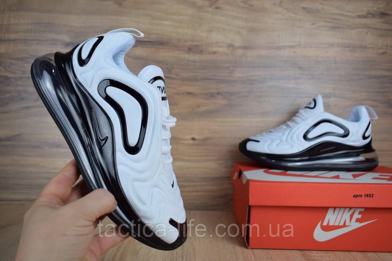 24f36fe8 Мужские кроссовки Nike Air Max 720 белые с черным ( ТОП реплика) - Тактика-