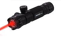 Лазерний целеуказатель ЛЦУ червоний, виносна кнопка, два кріплення, для полювання, фото 1